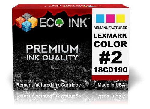 18c0190 Colour - ECO INK Compatible / Remanufactured for Lexmark 2 (1 Color) 18C0190 for Lexmark - X2480, X2580, X3480, X3580, X4580 , Z1380, Z1480