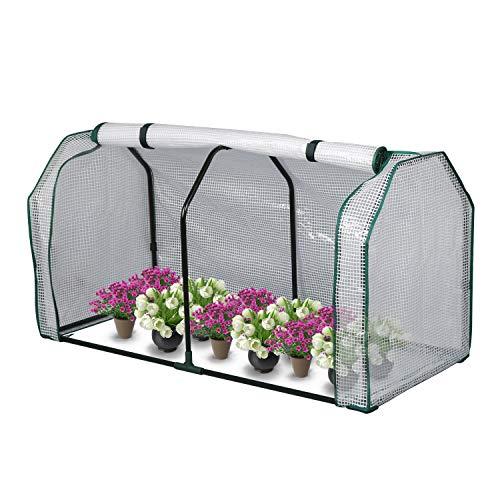 LYNSLIM Mini Greenhouse, 48 x24x 21.6 ,PE Cover,Large Zipper Doors,Indoor Outdoor Garden Green House Flowerpot Cover