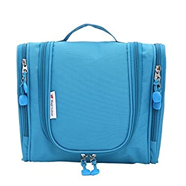 Hanging Toiletry Bag Water Resistant with Mesh Pockets Travel Shower Bag 8800Lan Small,Blue