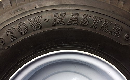 Towmaster 4.80-8 LRC/6 Ply Tire with 4 lug 8'' wheel by Towmaster (Image #1)