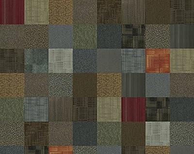 """4urFloor Assorted Carpet Tile 24"""" x 24"""" 96sqft 24 Peel and Stick Tiles"""