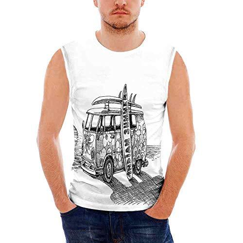 a73e647c Mens Sketchy Tank Top Sleeveless Tees All Over Print Casual T- Shirts,Hot  Summer