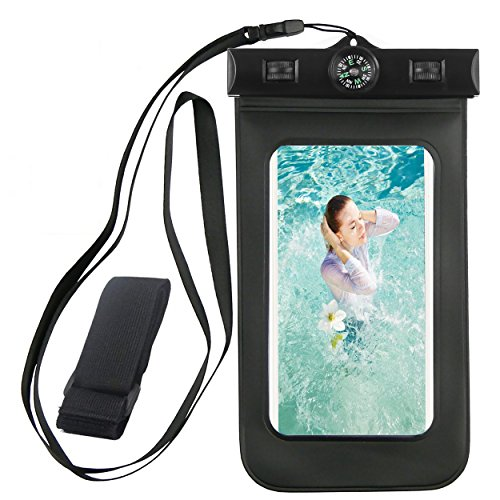 Waterproof iPhone 6 case,Armband,Built-in Compass,Ailun Bag universal for iPhone 7/6 Plus/6/6s/5s/5c/SE,Samsung Galaxy S7/S6/EDGE/S5/S4/NOTE 4/3/2,LG G4/3,for Boating/Hiking/Swimming/Diving[Black] (Moto G One Direction Cases compare prices)