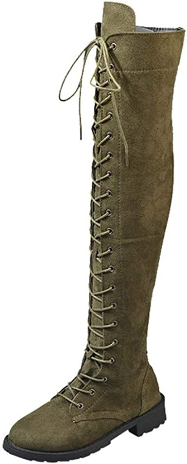 slim lace up boots