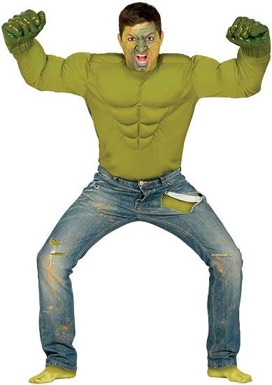 Disfraz de camisa de músculo increíble Hulk verde monstruo: Amazon ...