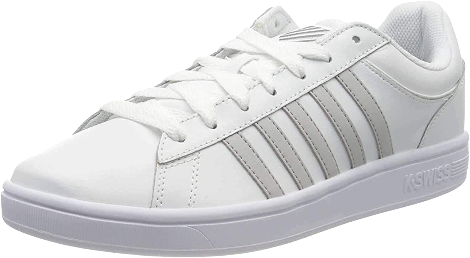 New Womens K-Swiss White Court Winston Leather Trainers Lace Up