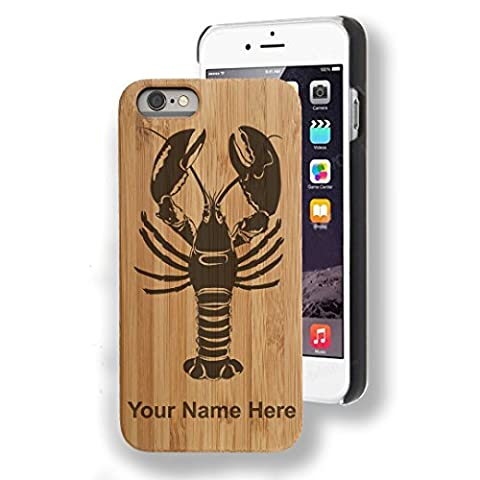 Bamboo Case for iPhone SE - Lobster - Personalized Engraving Included - Customized Lobster