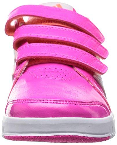 adidas LK Trainer 7 CF K, Zapatillas de Gimnasia Unisex Bebé Rosa / Blanco / Rojo (Rosimp / Ftwbla / Brisol)