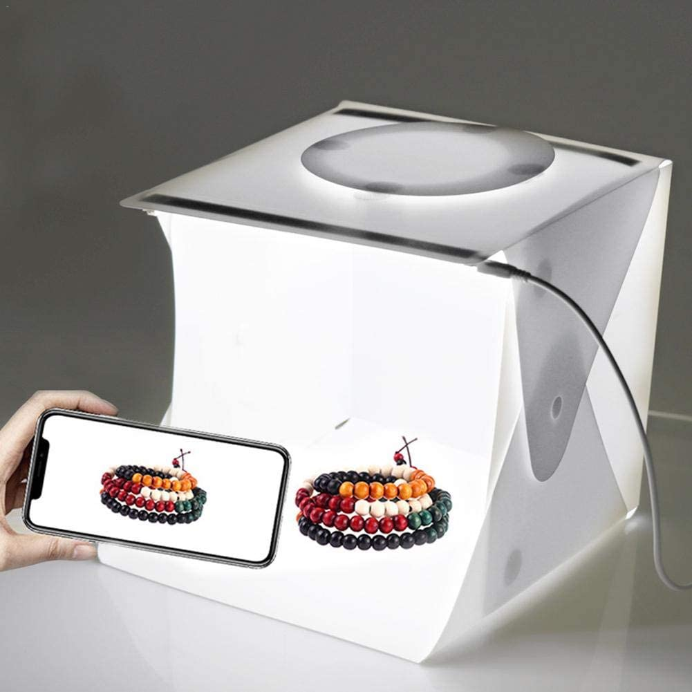 Meoliny Mini Photo Studio Light Box Creative Light Tent Backdrop for Smartphone Portable Equipment