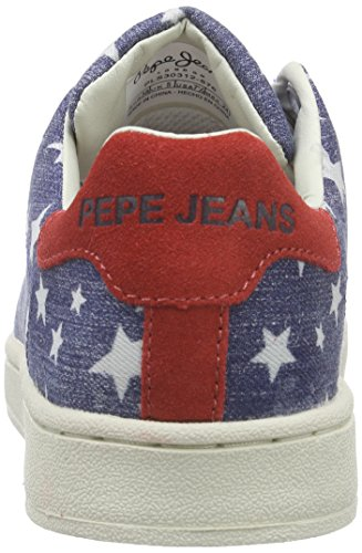 Pepe Jeans CLUB STARS - Zapatillas Mujer Azul (576WASHED NAVY)