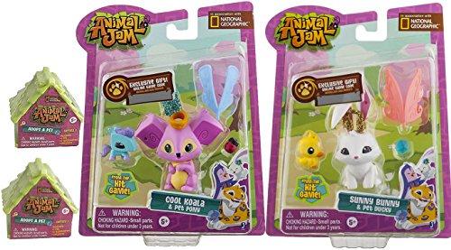 Animal Jam Sunny Bunny & Pet Ducky Figure 2-Pack Mini Figure + Cool