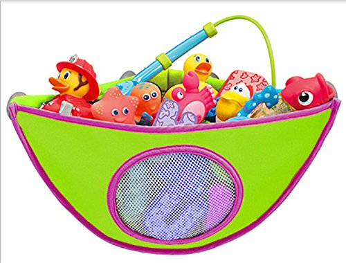 BYP Baby Suction Corner Bath Toys Storage & Organizer Bag & Baskets & Containers for Bathroom Shower (Sensitive Baby Basket)
