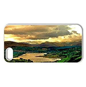 RIVER VALLEY - Case Cover for iPhone 5 and 5S (Rivers Series, Watercolor style, White)