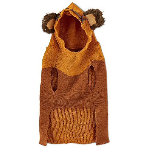 Star Wars Ewok Dog Sweater with Knit Hoodie, Medium