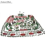 500 PCS Plastic Toy Soldiers Green Kit Army Men Figures Accessories Play Set Gift for Kids Boys
