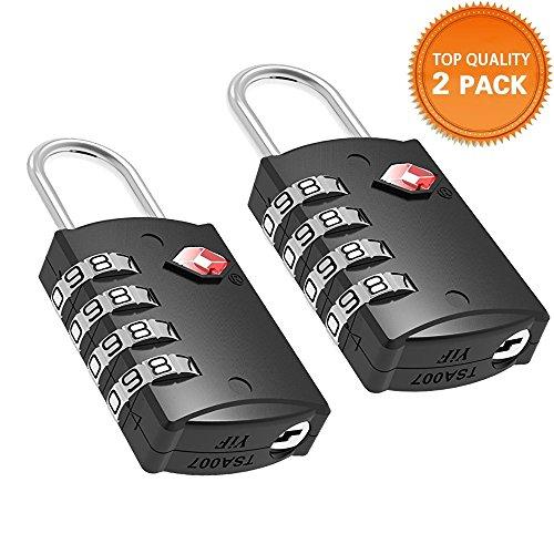 HT Aprobado por la TSA Equipaje locks 4dígitos combination theft Protección en nuestra resistente y duradera de viajes equipaje Lock, candado y veliz Lock