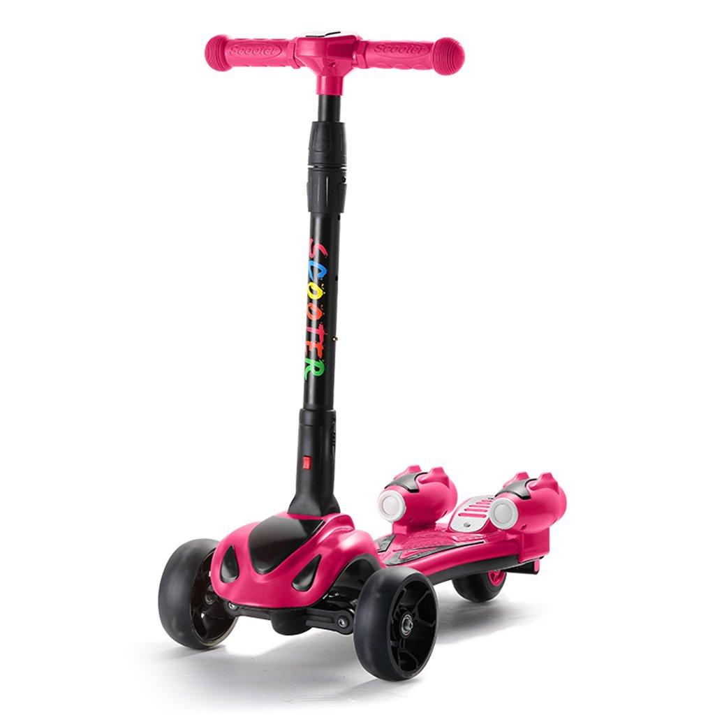 超激安 学生スクーター折り畳み式ライドブロック自転車リフトスイングカーフラッシュホイール5-15歳 B07FYLL3HH Pink Pink Pink, アクアライト:3e53a7f8 --- a0267596.xsph.ru