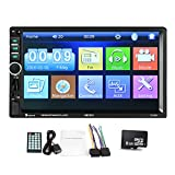Toogoo 2 din Car Multimedia Player GPS Navigaiton with Middle East Map 7 inch HD Touch Screen Bluetooth Autoradio MP3 MP5 Player 7018G Radios