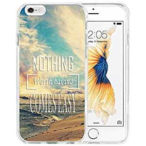Case For Iphone,Dseason Iphone 6 Plus (5.5 inch) Hard Case NEW fashionable Unique Design Personalized Quotes Nothing Worth Having Comes Easy