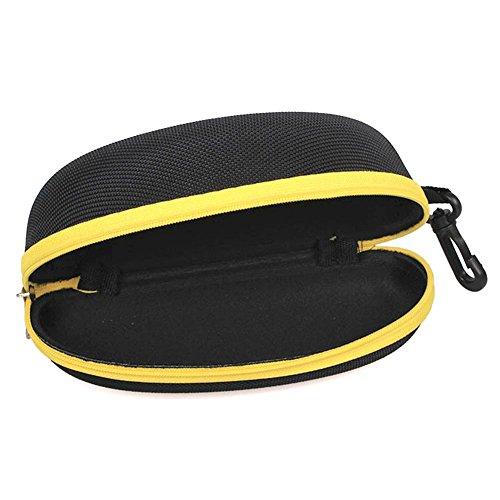 Lunettes Housse Protection Cas Soleil de LAAT Zipper à EVA Lunettes Eyewear Etui Jaune de Boîte Portable Coque BSET1