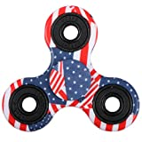 EVERMARKET New Style Premium Tri-Spinner Fidget Toy With Premium Hybrid Ceramic Bearing - American Flag EVERMARKET