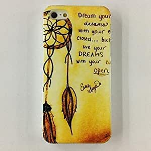 Buy Luck Feather Words Pattern Polycarbonate Hard Case for iPhone 4/4S , Multicolor