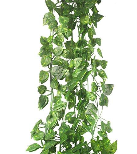 AmpleSky Artificial Leaf Fake Vine Garlands Rattan Wreath Green Leaves Decorative Home Garden Wedding Party Wreaths Decor (82ft)