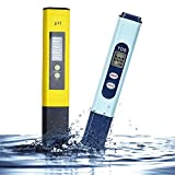 Hisionlee TDS Electronic Water PH Tester LCD Screen Water Quality Testing 0~9990 PPM/PH 0~14.0, 0.1 pH Accuracy, High Accuracy with Automatic Temperature Compensation