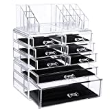SONGMICS Makeup Organizer Cosmetic Storage Display Boxes Jewelry Chest 3 Pieces Set UJMU08T