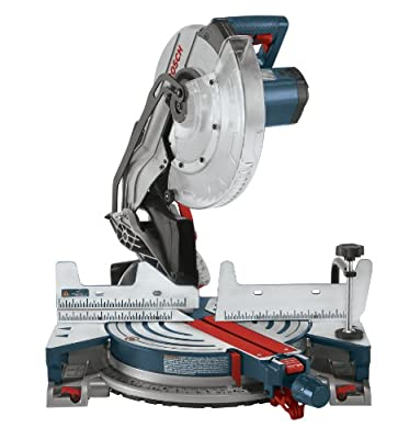 Bosch CM12 12-Inch Single Bevel Compound Miter Saw with Dust Bag and Blade-Change Wrench
