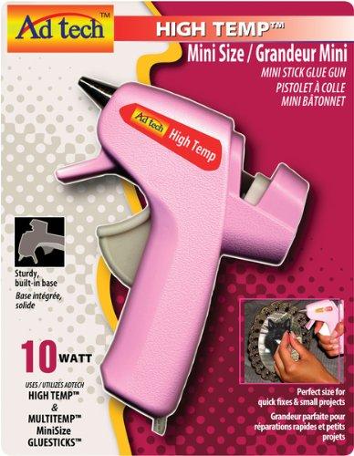 High Temp Mini Glue Gun-Pink 1 pcs sku# 655683MA