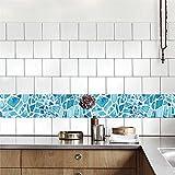 "AmazingWall Baroque Style Tiles Sticker Vintage Wallpaper Mural Home Decoration Art Decor Decals 39.37x7.87"" 5 Pcs/set"