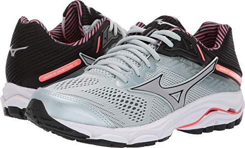 Mizuno Women's Wave Inspire 15 Running Shoe, Sky Gray-Silver, 9.5 W US