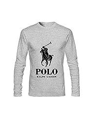 Dorenes Polo Ralph Lauren Men's Long Sleeve Round Collar T Shirts