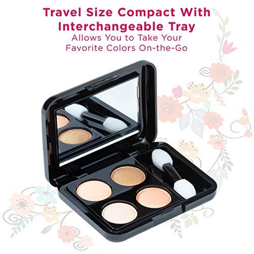 Vokai Makeup Kit Gift Set – 52 Piece - 32 Eye Shadows, 2 Blushes, 4 Lipsticks, 1 Dual-tip Eye Pencil, 1 Dual-tip Lip Pencil - Mirror - Case with Carrying Handle 2020
