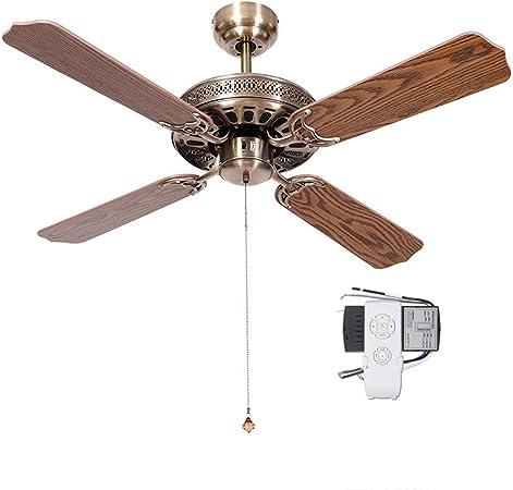 Ventilador de techo ZHAOSHUNLI Retro Lampless Ventilador Antiguo ...