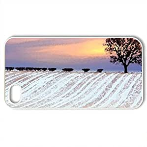 Amazing landscape - Case Cover for iPhone 4 and 4s (Watercolor style, White)