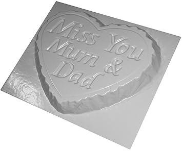 Gran Memorial piedra hormigón molde Miss You Mum y Dad: Amazon.es: Juguetes y juegos