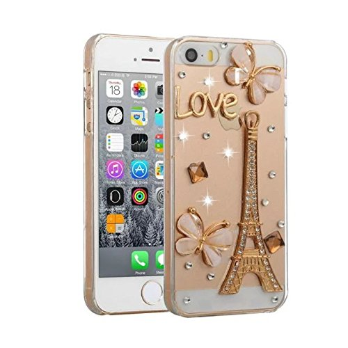 iPhone 7 Plus Diamond Case,iPhone 7 Plus Crystal Rhinestone Case,Luxury Bling Diamond Crystal Rhinestone Ultra Thin Slim Clear Back Tower Butterfly Design Phone Case Cover For iPhone 7 Plus 5.5 inch