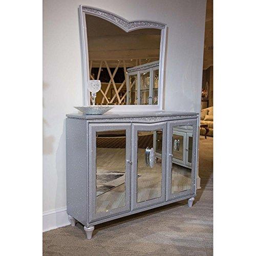Aico Amini Melrose Plaza Sideboard & Mirror Set in Dove Grey by Aico Amini