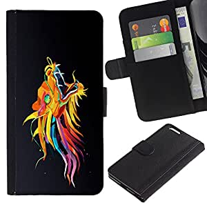 Planetar® Colorful Pattern Flip Wallet Leather Holster Protective Skin Case Cover For Apple (5.5 inches!!!) iPhone 6+ Plus ( Colorful Asian Dragon )