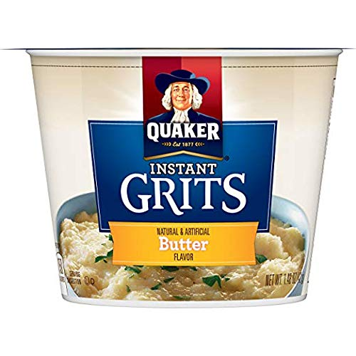 Quaker Instant Grits, Butter, 1.48 Ounce Cup