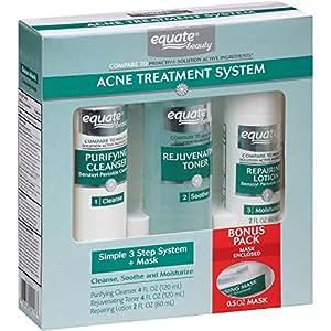 Amazon Com Equate 3 Step Acne Treatment System Mask