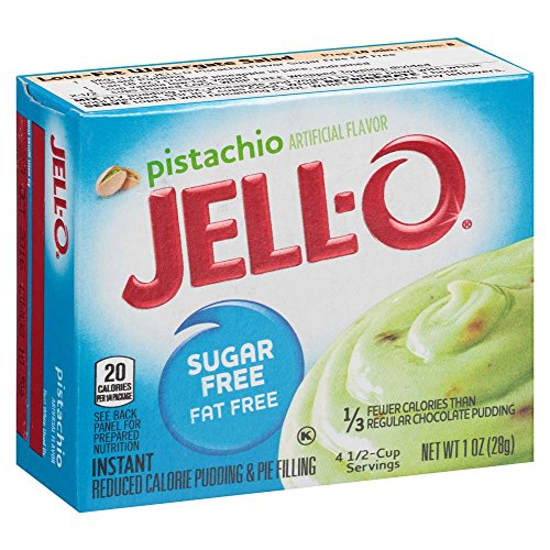 JELL-O Pistachio Instant Pudding & Pie Filling Mix (10z Boxes, Pack of 6)