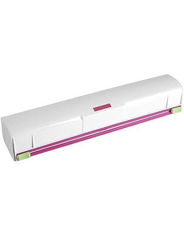 Fdit Cortadoras Plástico de Cocina Embalaje Cortador de Papel Cortador de Películas Soporte de Almacenamiento de