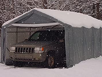 Great Portable Carports |Instant Garages | Vehicle Shelters (Gray, House  10Wx20Lx8H)