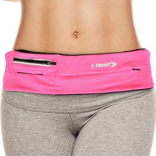 Fanny Pack Waist Bag Pink : Best Running Belt Pouch Waistband Case Holds All Cell Phones Sports Fitness Holder fits Women Men Jog Runners With Water Resistant Zipper Pocket All Sizes (Pink Sport Fit)