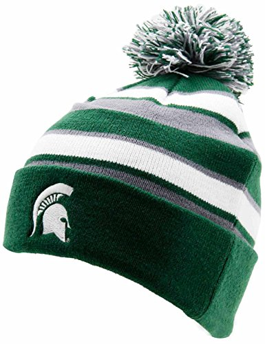 NCAA Michigan State Spartans Adult Women Holloway Comeback Beanie, One Size, Forest/White/Graphite