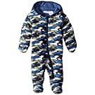 Calvin Klein Baby Boys' Hooded Camo Print Pram, Blue/Olive/White, 0-3 Months