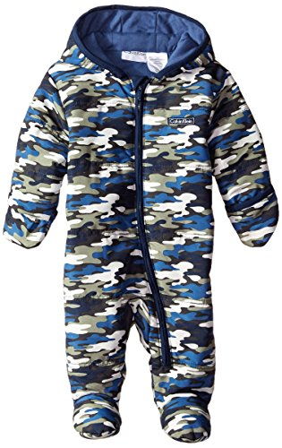 Calvin Klein Baby Boys' Hooded Camo Print Pram, Blue/Olive/White, 3-6 Months (Joker Suit For Sale)